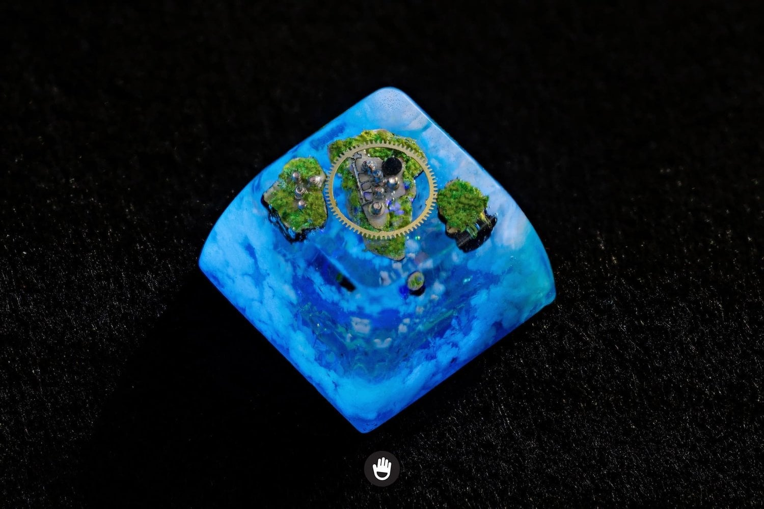 Wood Mini Iceland Artisan Keycaps Key Cap For Cherry Mx Mechanical Keyboard Selling Well All Over The World Sa Natural Landscape Handmade Keycap Resin Keyboards