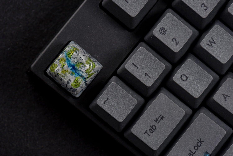 Shangri La Flows artisan keycap series