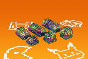 8bits Series Artisan Keycaps 125