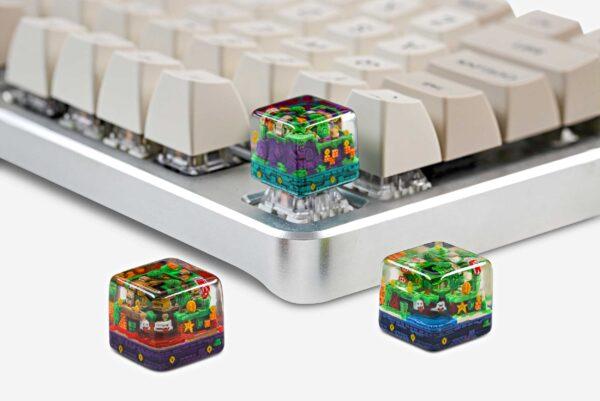 8bits Series Artisan Keycaps 140