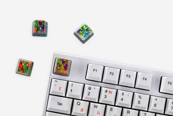 8bits Series Artisan Keycaps 144