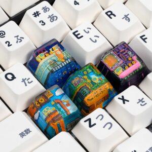 8bits series artisan keycaps 2050