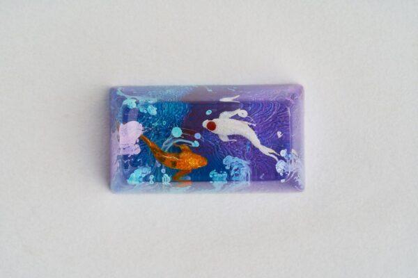 A4 Jelly Key Zend Pond Artisan Keycaps193
