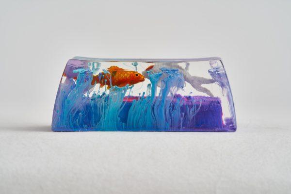 A4 Jelly Key Zend Pond Artisan Keycaps333