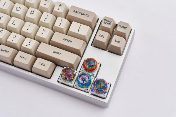 Banjelly Key Mosaic Resin Keycapsphimjelly Key Mosaic Resin Keycaps2