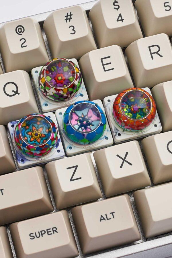 Banjelly Key Mosaic Resin Keycapsphimjelly Key Mosaic Resin Keycaps4