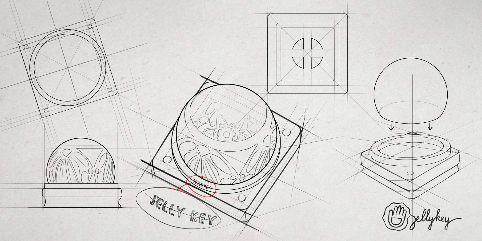 Jelly Key Sketch 1