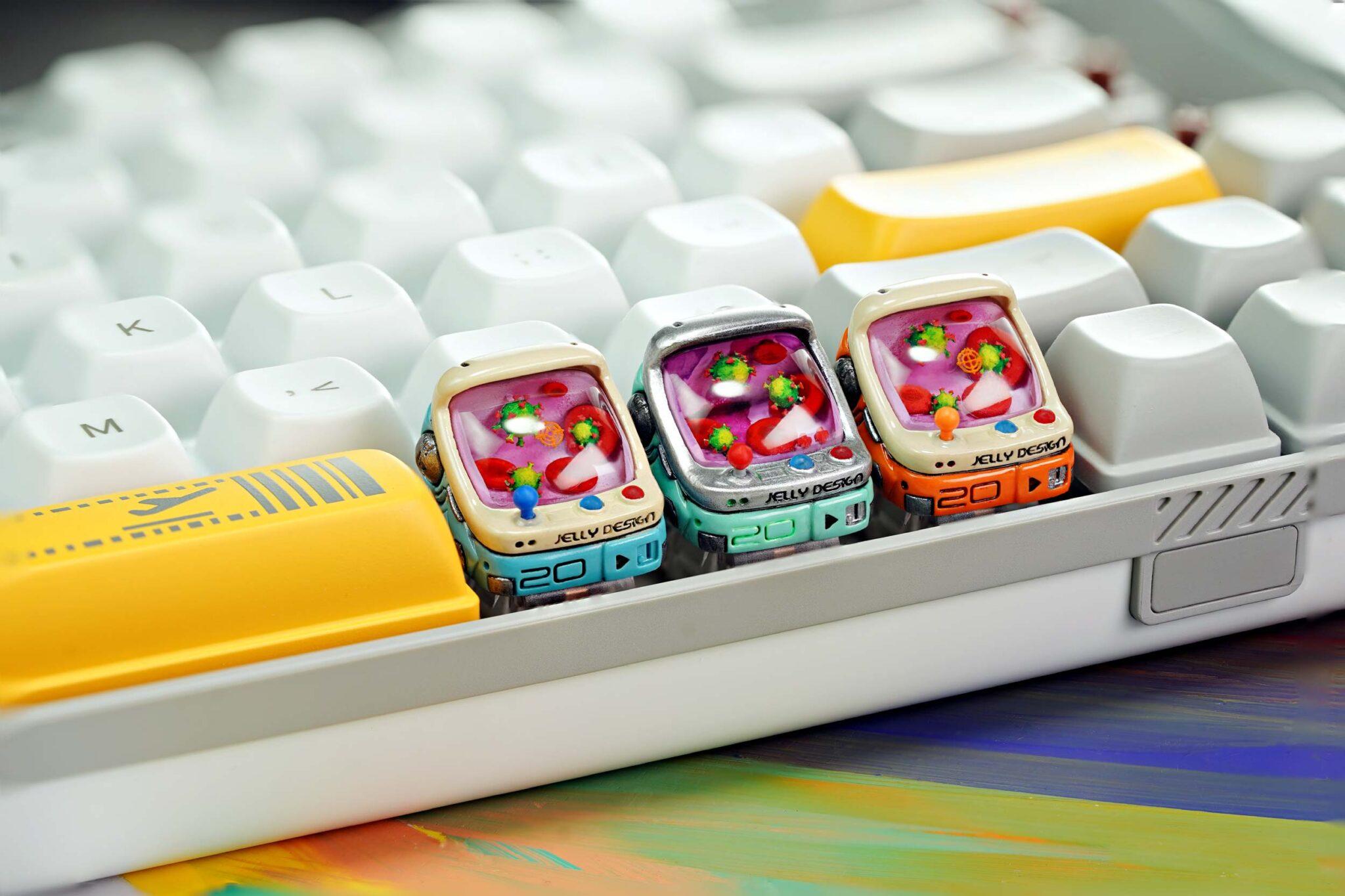 [jelly key][raffle] – arcade cabinets – ageless console keycaps (8)