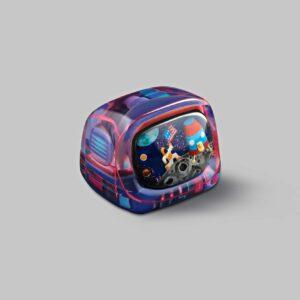 retro tv series – life on planets artisan keycap 007