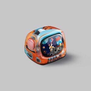 retro tv series – life on planets artisan keycap 027