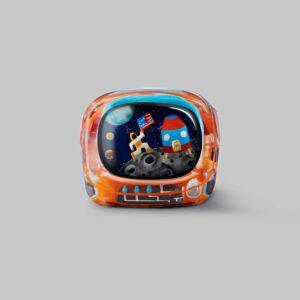 retro tv series – life on planets artisan keycap 029