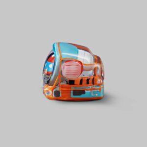 retro tv series – life on planets artisan keycap 030