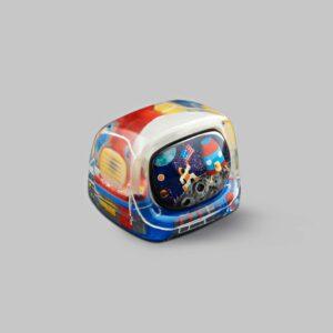 retro tv series – life on planets artisan keycap 031