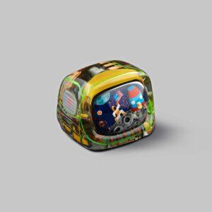 retro tv series – life on planets artisan keycap 043
