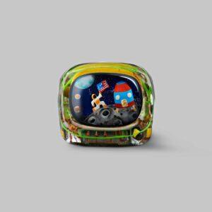 retro tv series – life on planets artisan keycap 045