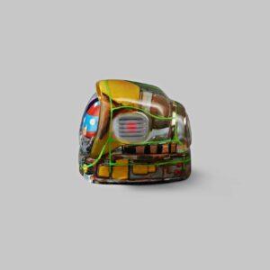 retro tv series – life on planets artisan keycap 046