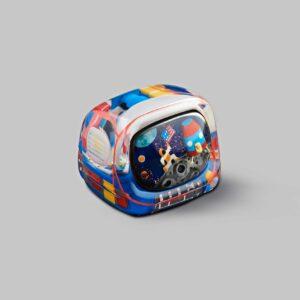 retro tv series – life on planets artisan keycap 049