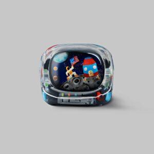 retro tv series – life on planets artisan keycap 058