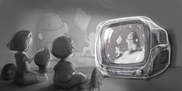 retro tv series – life on planets artisan keycap 088