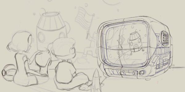 retro tv series – life on planets artisan keycap 089
