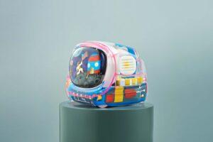 retro tv series – life on planets artisan keycap 134
