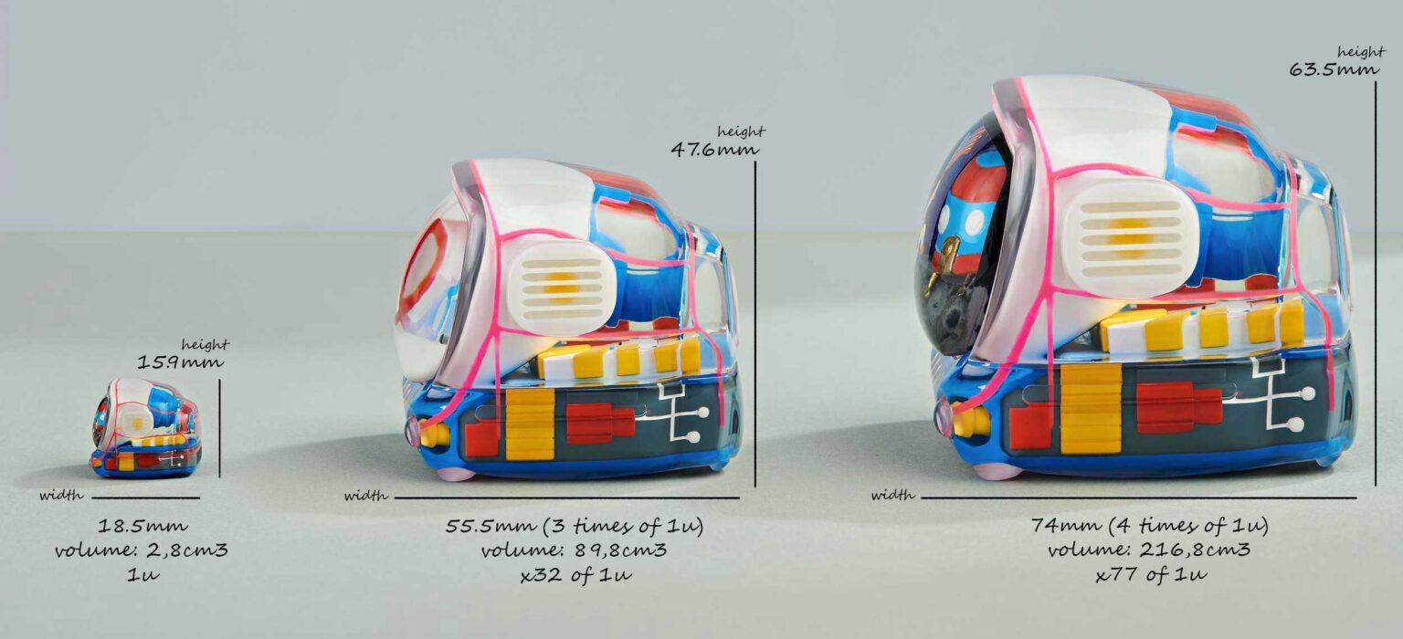 retro tv series – life on planets artisan keycap 136