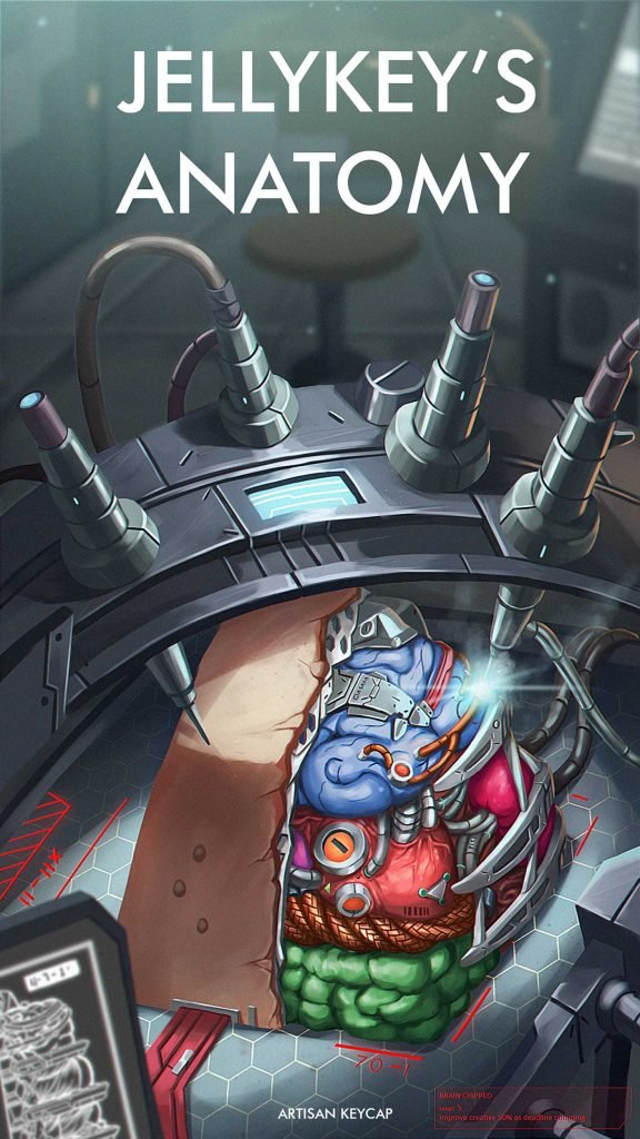 anatomy custom keycaps 003