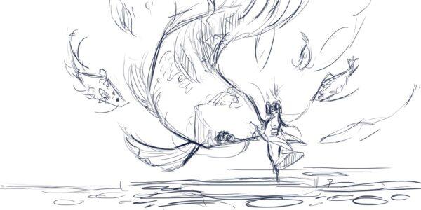 Artwork Koi Artisan Keycaps Sketch 3