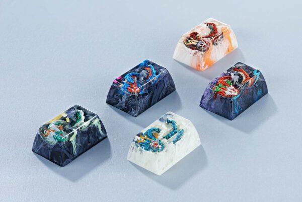 dragon artisan keycaps 160