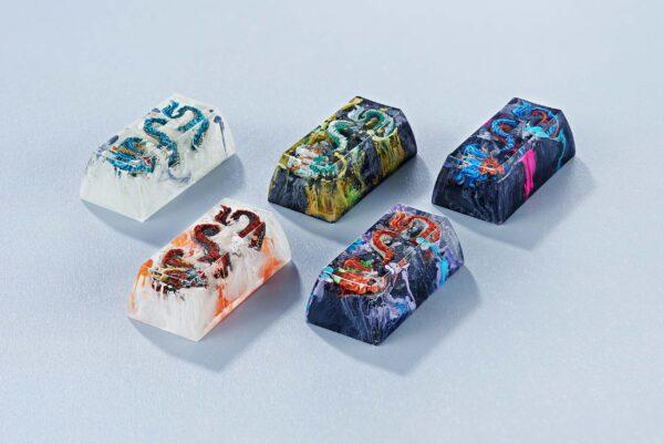 dragon artisan keycaps 162