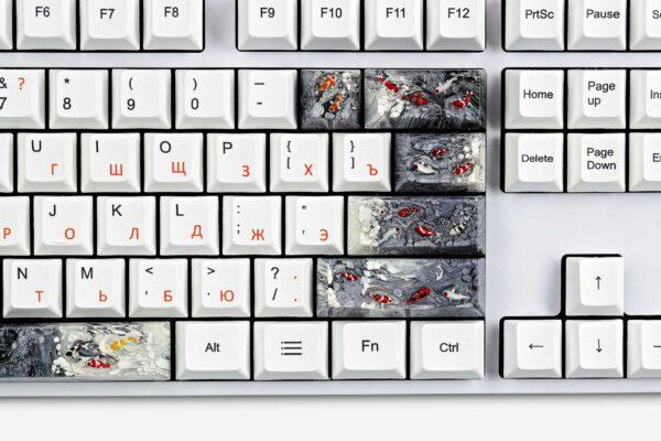 Koi Fish Custom Keycaps (11)