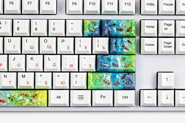 Koi Fish Custom Keycaps (13)