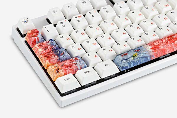 Koi Fish Custom Keycaps (4)