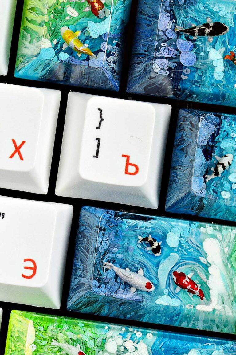 Koi Fish Keycaps 2