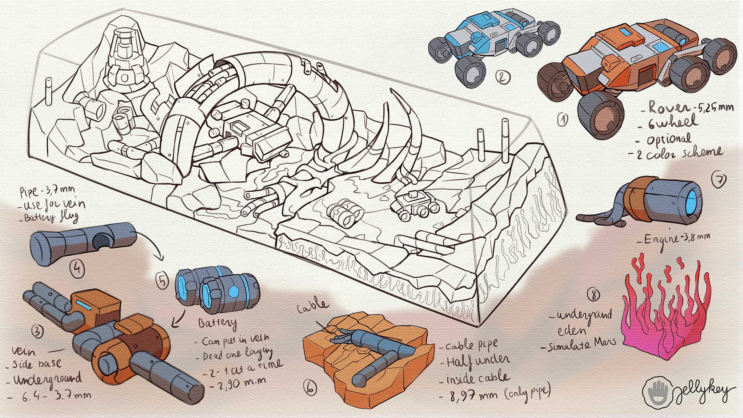 Mars Custom Keycaps 187