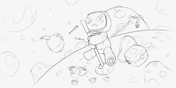 sketch retro tv series jellykey 4