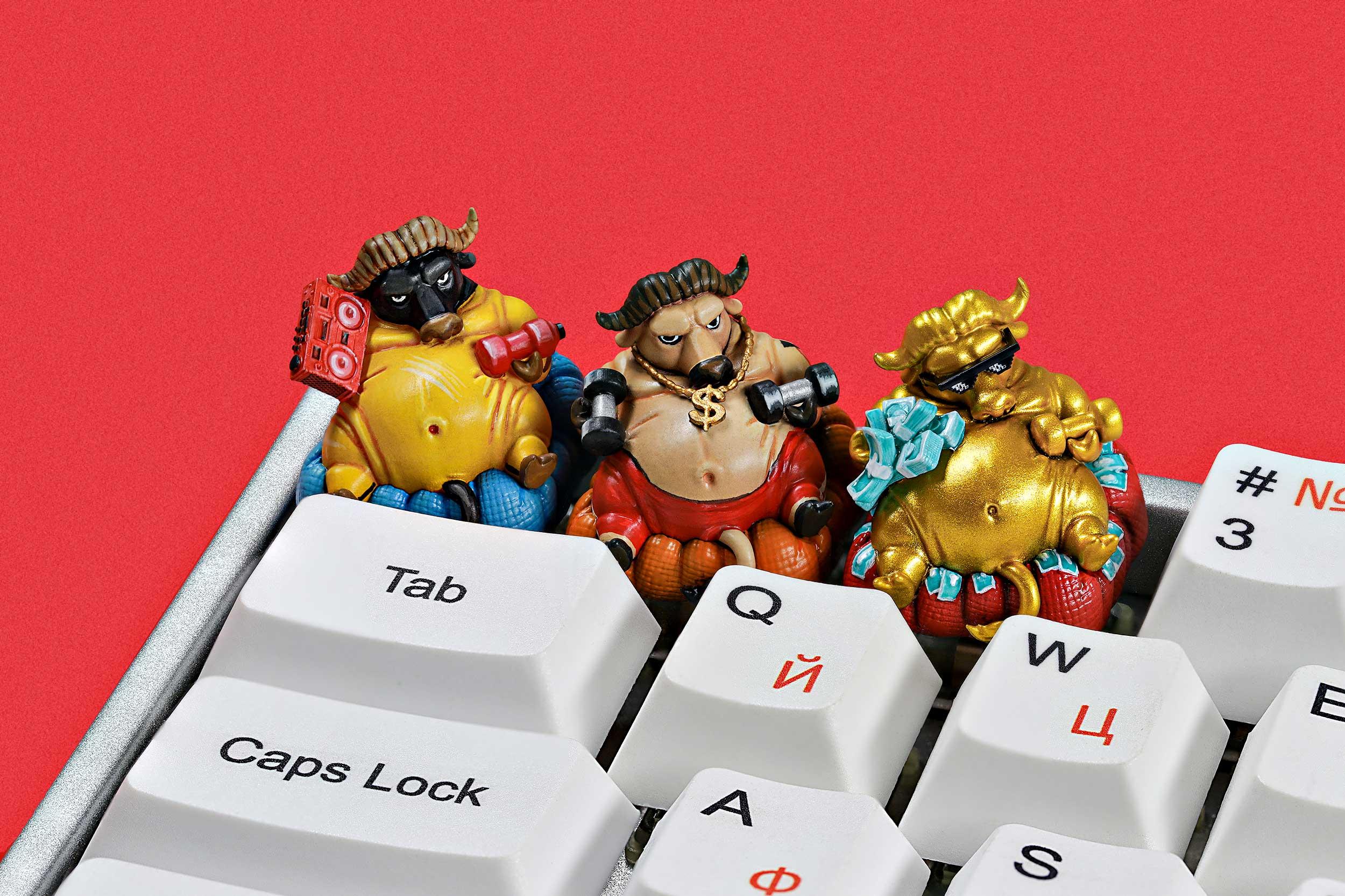 Zodiac Ox Keycaps 014