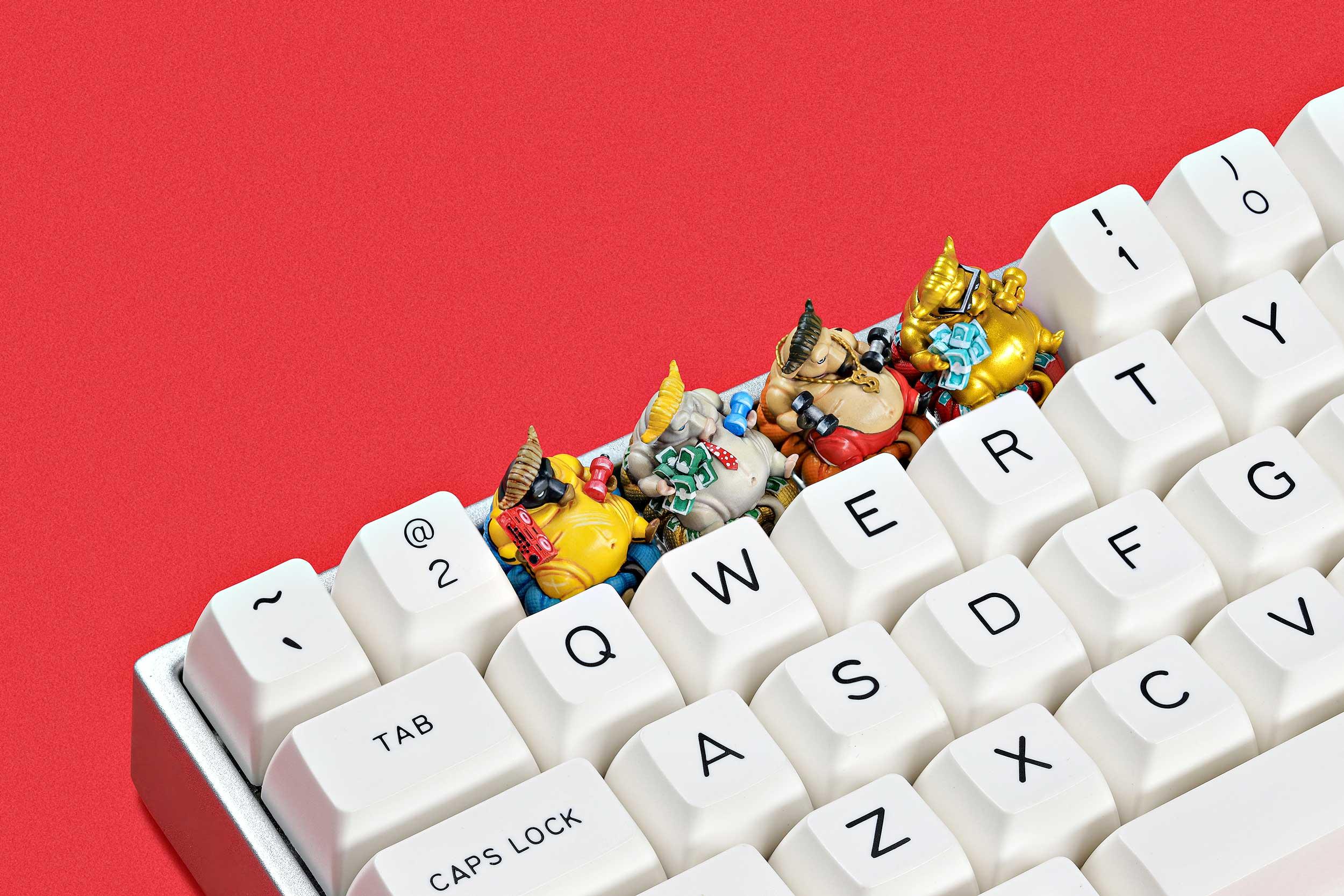 Zodiac Ox Keycaps 017